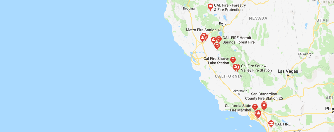 How many wildfires are in California?