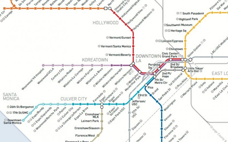 List of Los Angeles Metro Rail stations - Reveal California Downtown Los Angeles Metro Map on